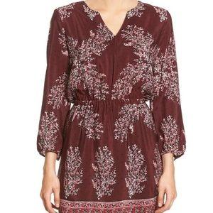 Madewell Mixed Print Silk Blouson Dress